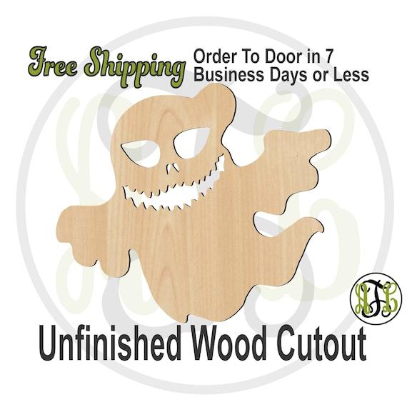 Ghost 9 - 160041- Halloween Cutout, unfinished, wood cutout, wood craft, laser cut out, wood cut out, Door Hanger, spirit, phantom, wooden