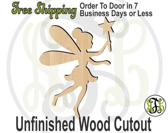 Fairy - 300057- Cutout, unfinished, wood cutout, wood craft, laser cut shape, wood cut out, Door Hanger, wooden, wreath accent