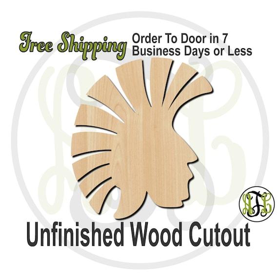 Trojan Head Mascot- 60620- School Spirit Cutout, unfinished, wood cutout, wood craft, laser cut shape, wood cut out, Door Hanger, wooden