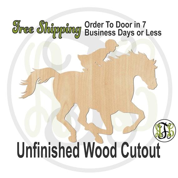 Jockey Horse Racing- 60180- Equestrian Cutout, unfinished, wood cutout, wood craft, laser cut, wood cut out, wooden, Kentucky Derby