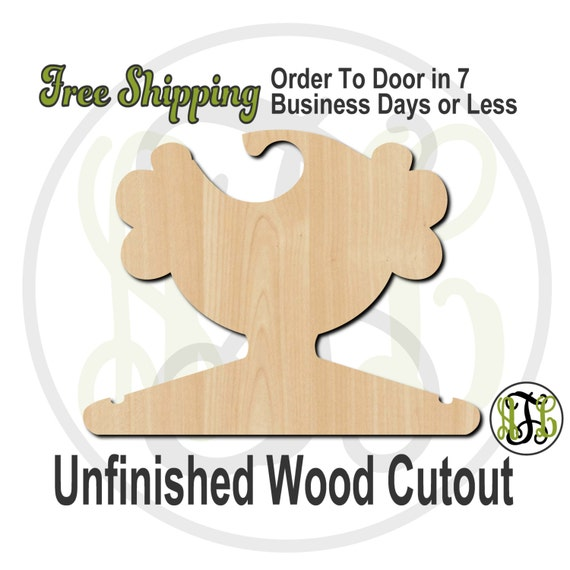 Girl Curly Closet Hanger - Adult or Child Size Cutout, unfinished, wood cutout, wood craft, laser cut, wood cut out, DIY, Free Shipping