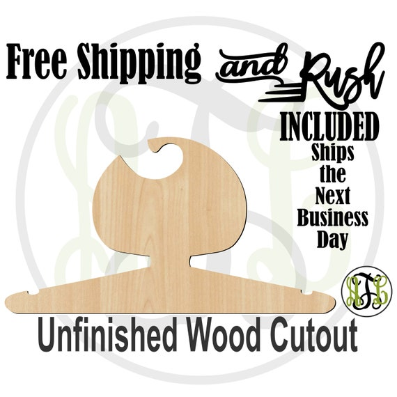 Girl Bobbed Closet Hanger - Adult or Child Size Cutout, unfinished, wood cutout,  laser cut, Free Shipping - RUSH PRODUCTION