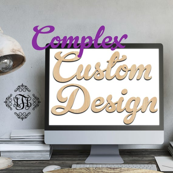 Custom Design Wood Art Complex, 3 Features, Wedding, Nursery, College, Personalized, Sign, Birthday, laser cut shape, wood cut out
