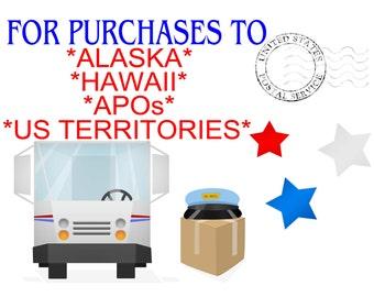 Shipping to Alaska, Hawaii, APOs and US Territories