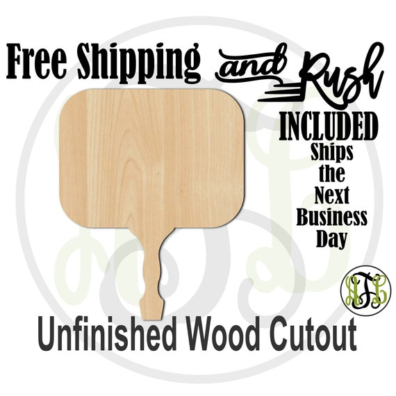 Rounded Rectangle Paddle Sign- 3400002- Cutout, unfinished, wood cutout,  laser cut, DIY, Free Ship, Wedding - RUSH PRODUCTION