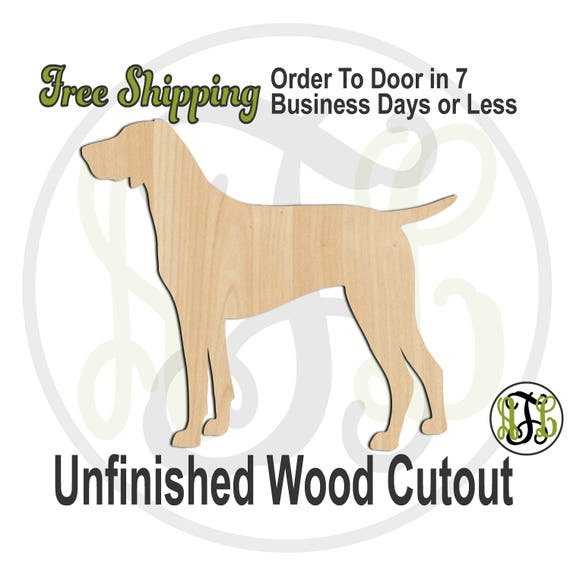 German Shorthaired Pointer - 230098- Animal Cutout, unfinished, wood cutout, wood craft, laser cut, wood cut out, Door Hanger, Dog, wooden