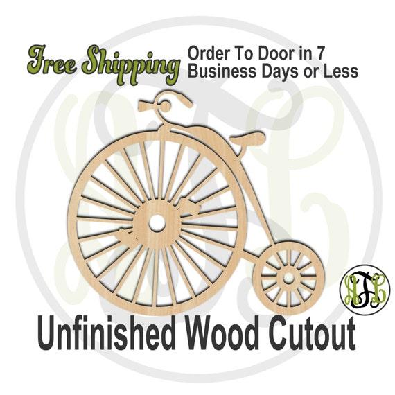 Vintage Bike- 300065- Summer Cutout, unfinished, wood cutout, wood craft, laser cut shape, wood cut out, Door Hanger, Fun, wooden