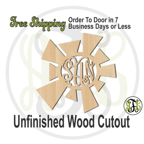 Summer Sun Monogram - 210003M3- Personalized Cutout, 3-Letter Monogram , unfinished, wood cutout, wood craft, laser cut, wood cut out