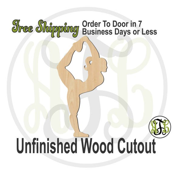 Cheerleader Scorpion Pose - 60038- Sports Cutout, unfinished, wood cutout, wood craft, laser cut, wood cut out, Door Hanger, Cheer, wooden