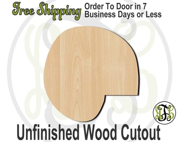 Shell 1 - 50001- Nautical Cutout, unfinished, wood cutout, wood craft, laser cut shape, wood cut out, Door Hanger, wooden, blank