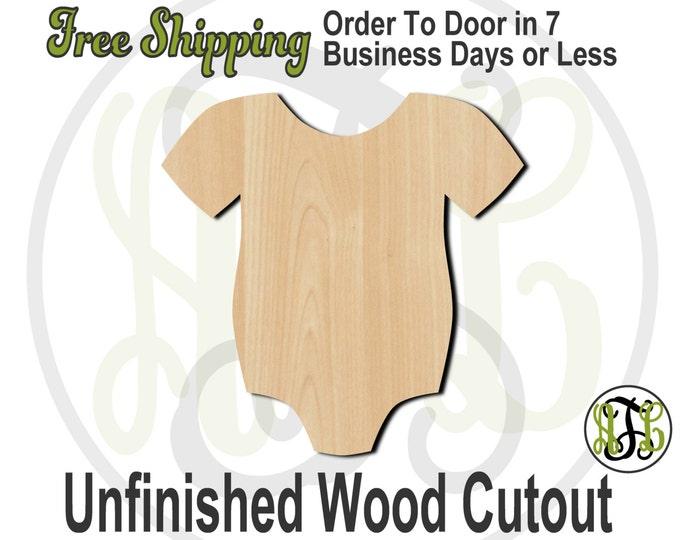 Infant Body Suit - 30003- Cutout, unfinished, wood cutout, wood craft, laser cut shape, wood cut out, Door Hanger, snap suit, creeper