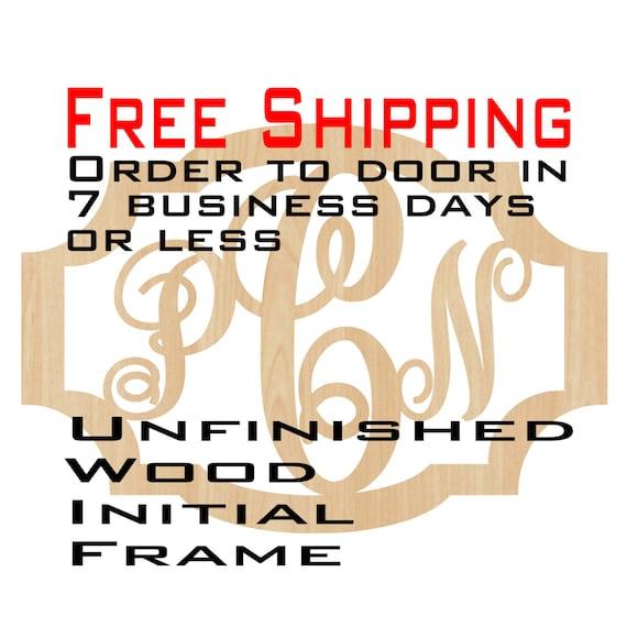 Unfinished Wood Paula Frame Monogram, Name, Word, Custom, laser cut wood, wooden cut out, Nursery, Personalized, DIY