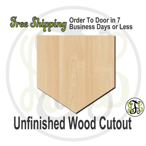 Baseball Home Plate - 60009- School Spirit Cutout, unfinished, wood cutout, wood craft, laser cut shape, wood cut out, Door Hanger, wooden
