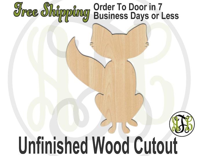 Fox - 220008- Fall Cutout, unfinished, wood cutout, wood craft, laser cut shape, wood cut out, Door Hanger, wooden, blank