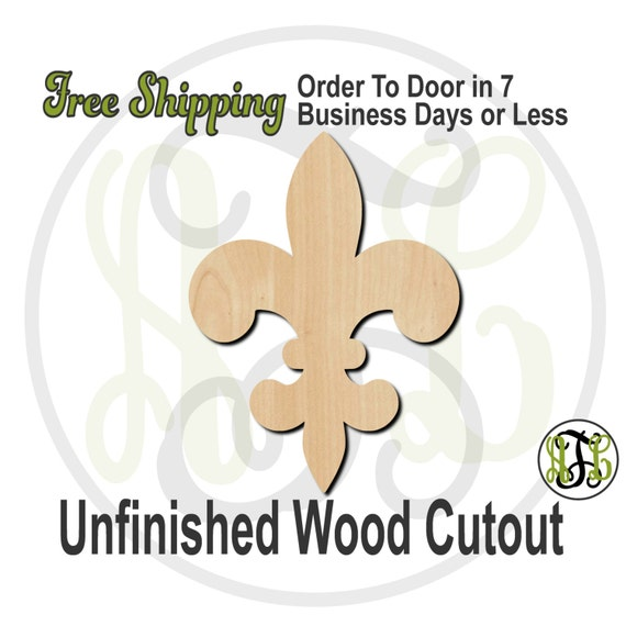 "Fleur de Lis 20- 3"" to 6"" Minis- 300039- Small Wood Cutout, unfinished, wood cutout, wood craft, laser cut, wood cut out, ornament"