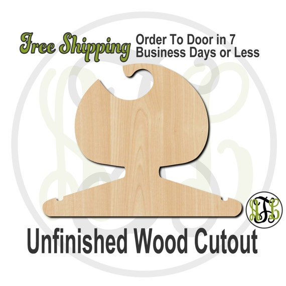 Girl Bobbed Closet Hanger - Adult or Child Size Cutout, unfinished, wood cutout, wood craft, laser cut, wood cut out, DIY, Free Shipping