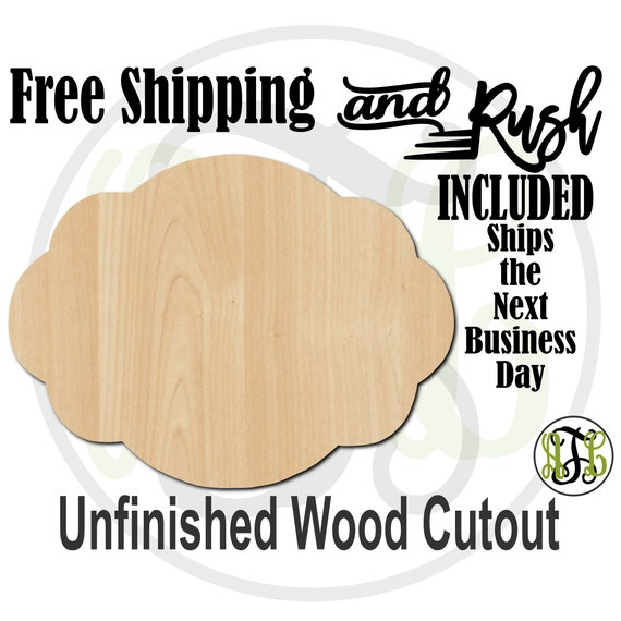 Plaque Rebecca - 40013- Cutout, unfinished, wood cutout,  laser cut shape, DIY, Free Shipping - RUSH PRODUCTION