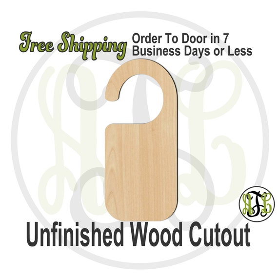 Door Knob Hanger- 3400500 - Cutout, unfinished, wood cutout, wood craft, laser cut shape, wood cut out, Door Hanger, wooden, wreath accent