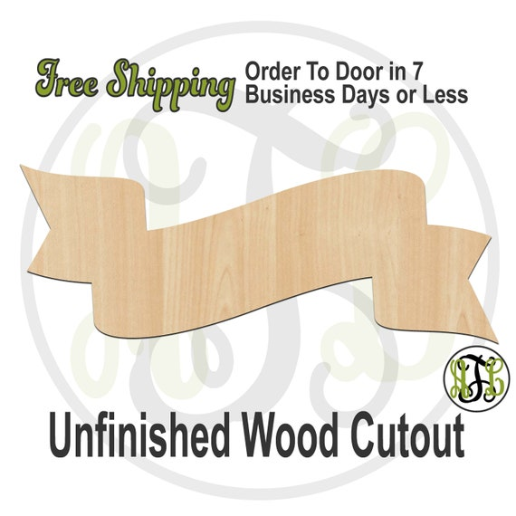 Low-Hi Double Whip Banner - 40064- Cutout, unfinished, wood cutout, wood craft, laser cut shape, wood cut out, DIY, Free Shipping