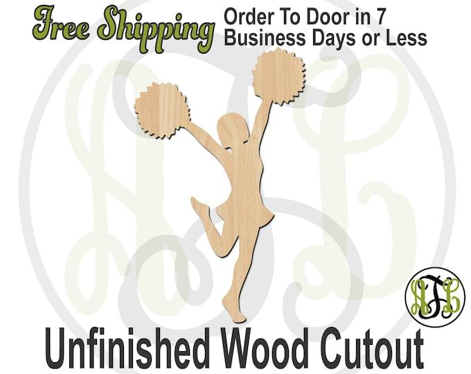 Cheerleader 2 - 60039- Sports Cutout, unfinished, wood cutout, wood craft, laser cut shape, wood cut out, Door Hanger, wooden, wall art