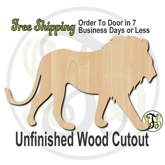Lion Mascot- 60579- School Mascot Cutout, unfinished, wood cutout, wood craft, laser cut shape, wood cut out, Door Hanger, wooden, wall art