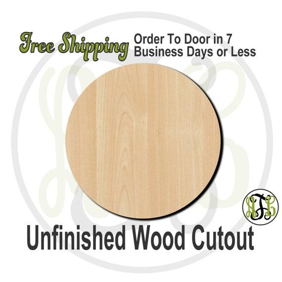 Plaque Circle - 40015- Cutout, unfinished, wood cutout, wood craft, laser cut shape, wood cut out, Ball, DIY, Free Shipping