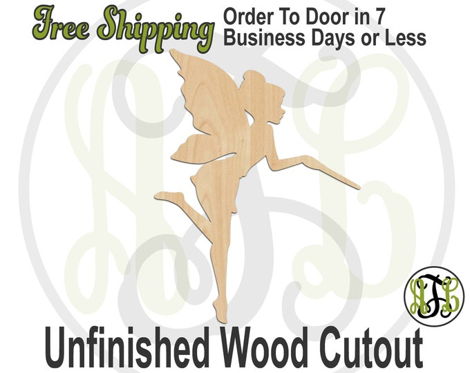 Fairy with Wand - 20014- Fantasy Cutout, unfinished, wood cutout, wood shape, laser cut, wood cut out, Door Hanger, wooden, ready to paint