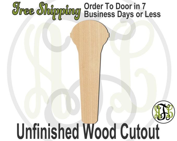 Microphone - 300145- Music Cutout, unfinished, wood cutout, wood craft, laser cut shape, wood cut out, Door Hanger, wooden, wall art