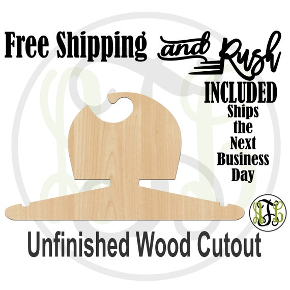 Girl Blocked Closet Hanger - Adult or Child Size Cutout, unfinished, wood cutout,  laser cut, Free Shipping - RUSH PRODUCTION