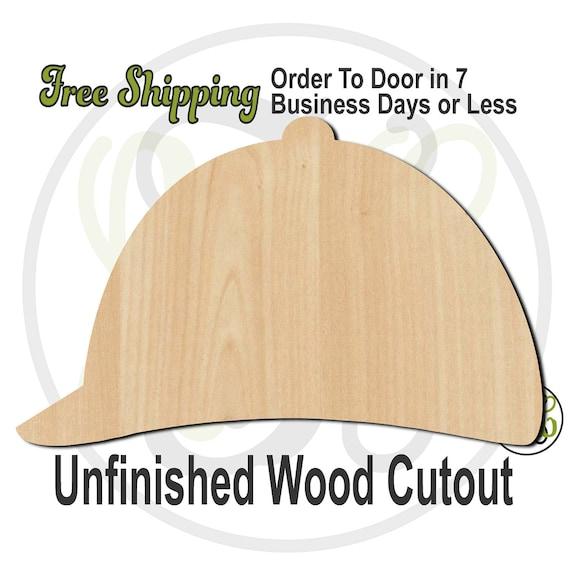 Jockey Hat - 60033- Kentucky Derby Cutout, unfinished, wood cutout, wood craft, laser cut, wood cut out, Door Hanger, Horse Racing, wooden