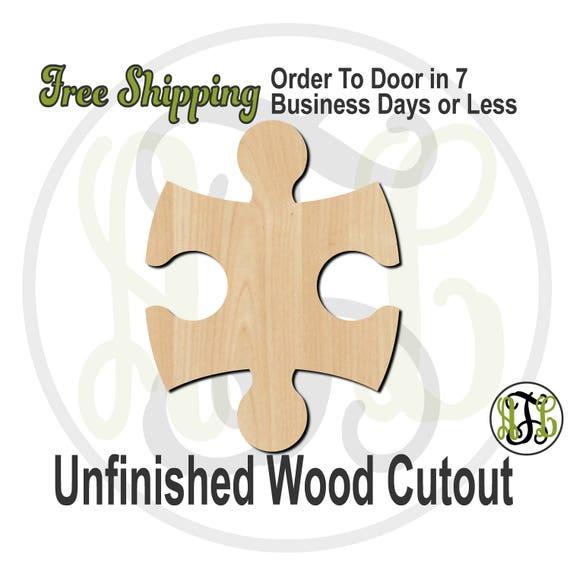 "Interlocking Puzzle Pieces - 2"" to 8"" Minis- 300150- Small Wood Cutout, unfinished, wood cutout, wood craft, laser cut, wood cut out"