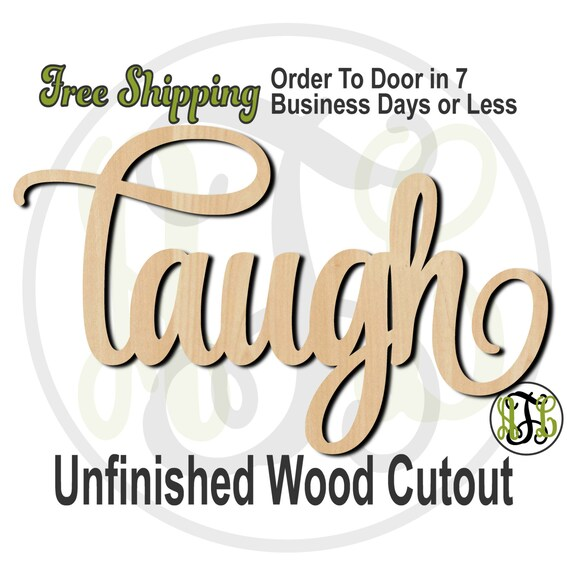 laugh - 320019SSt- Word Cutout, unfinished, wood cutout, wood craft, laser cut wood, wood cut out, Door Hanger, wooden sign, wall art