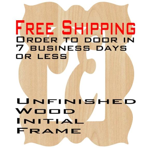 Unfinished Wood Evynn Frame Monogram, Name, Word, Custom, laser cut wood, wooden cut out, Wedding, Personalized, DIY