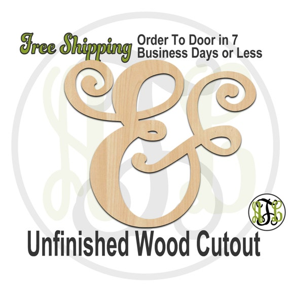 Ampersand 3- 322003- Cutout, unfinished, wood cutout, wood craft, laser cut wood, wood cut out, Door Hanger, wooden sign, wall art