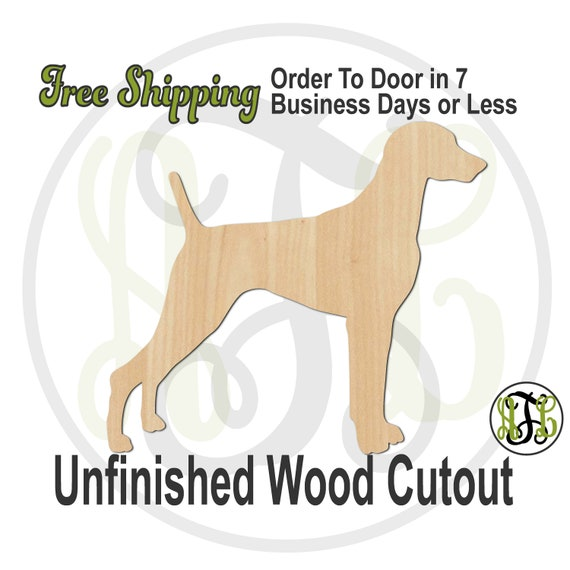Weimaraner - 230122- Dog Cutout, unfinished, wood cutout, wood craft, laser cut shape, wood cut out, Door Hanger, wooden, blank