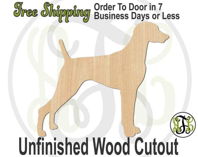 Weimaraner - 230122- Dog Cutout, unfinished, wood cutout, wood craft, laser cut shape, wood cut out, Door Hanger, wooden, blank