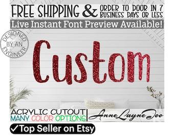 Acrylic Name Sign Block, Acrylic cutout, Custom Acrylic Block Name Sign, Nursery Name Sign, Wedding Sign, Birthday Sign, Name in Acrylic