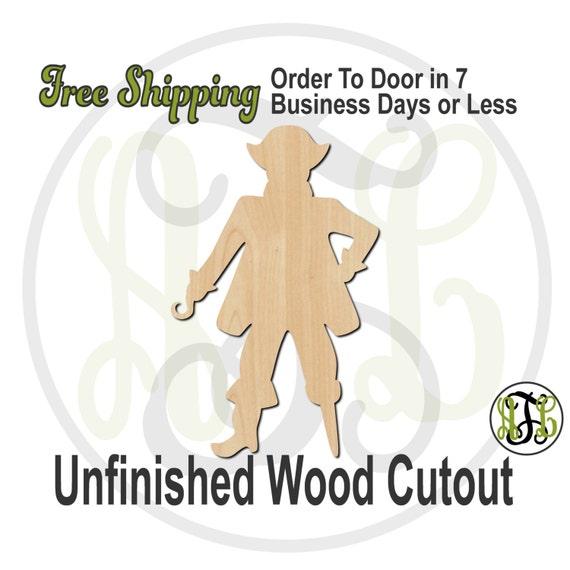 Pirate Mascot - 60600- School Spirit Cutout, unfinished, wood cutout, wood craft, laser cut shape, wood cut out, Door Hanger, wooden