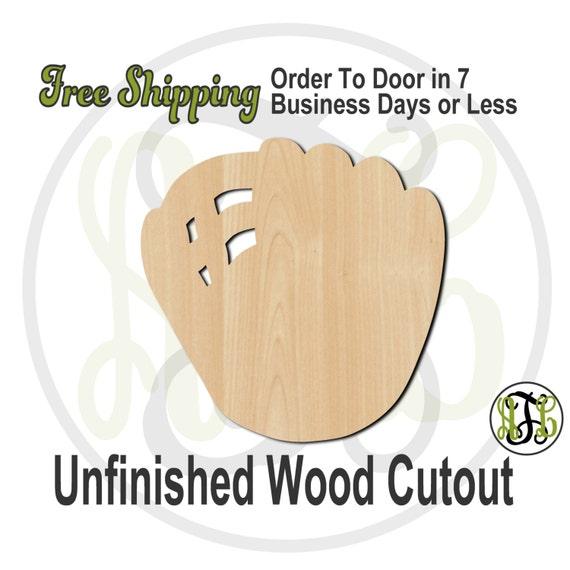 Baseball Mitt - 60008- Baseball Glove Cutout, unfinished, wood cutout, wood craft, laser cut shape, wood cut out, Door Hanger, wooden
