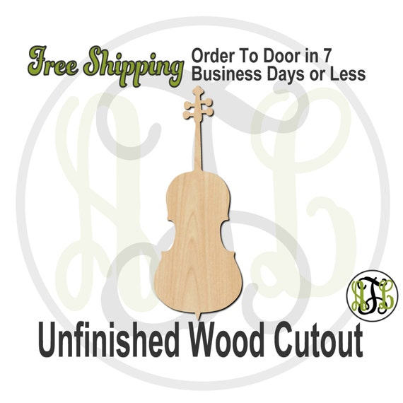Cello - 300122- Instrument Cutout, unfinished, wood cutout, wood craft, laser cut shape, wood cut out, Door Hanger, wooden, wall art