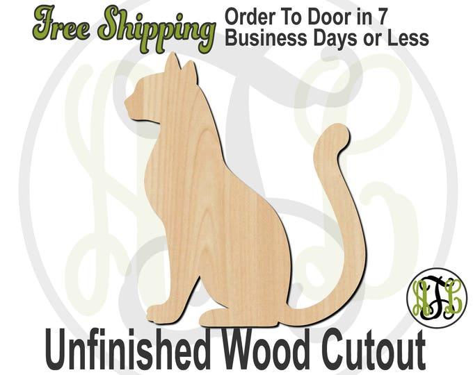 Sitting Cat - 230115- Feline Cutout, unfinished, wood cutout, wood craft, laser cut shape, wood cut out, Door Hanger, wooden, blank