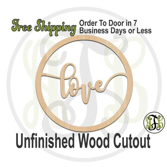 love in Thin Circle Frame, 325023, Wedding, Shower, laser cut wood cutout, Door Hanger, engagement, wooden sign, wall art