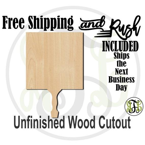 Square Paddle Sign- 3400007- Cutout, unfinished, wood cutout,  laser wood cutout, DIY, Free Ship, Wedding, bleacher - RUSH PRODUCTION
