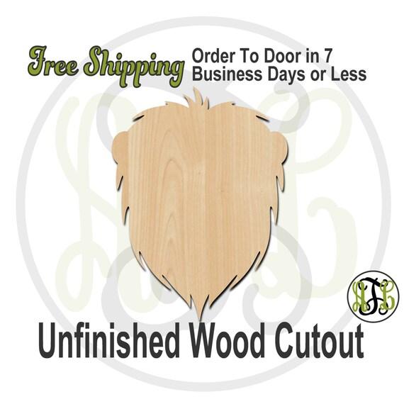 Lion Head Mascot - 60578- School Mascot Cutout, unfinished, wood cutout, wood craft, laser cut shape, wood cut out, Door Hanger, wooden