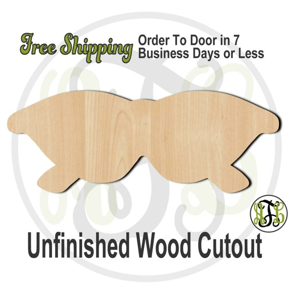Sunglasses 2 - 210014- Cutout, unfinished, wood cutout, wood craft, laser cut shape, wood cut out, Door Hanger, wooden, ready to paint