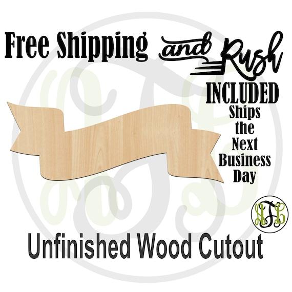 Low-Hi Double Whip Banner - 40064- Cutout, unfinished, wood cutout,  laser cut shape, DIY, Free Shipping - RUSH PRODUCTION