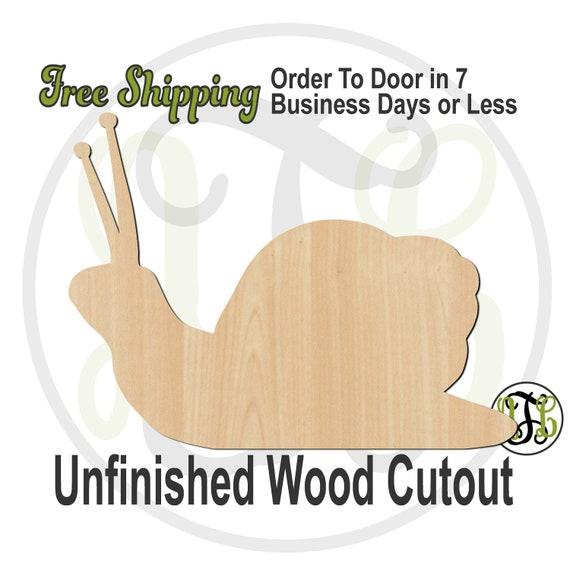 Snail -300229- Gastropod Cutout, unfinished, wood cutout, wood craft, laser cut shape, wood cut out, Door Hanger, animal, cute snail