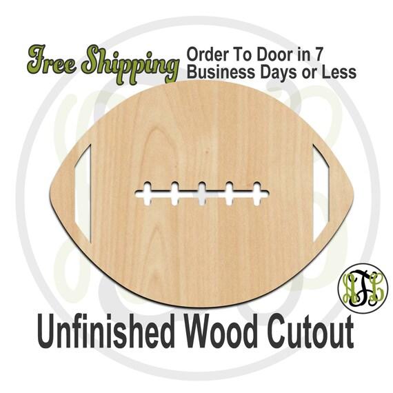 Football 2 - 60030- School Spirit Cutout, unfinished, wood cutout, wood craft, laser cut shape, wood cut out, Door Hanger, wooden, wall art