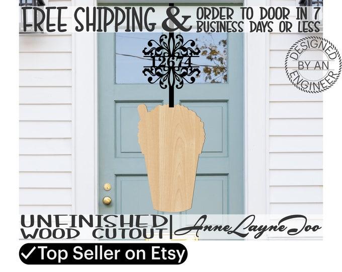 Snow Cone Snowball Wood Cutout, Snowball Door Hanger, Slushy cutout, wooden snowball, unfinished, laser cut, wood cut out -210027