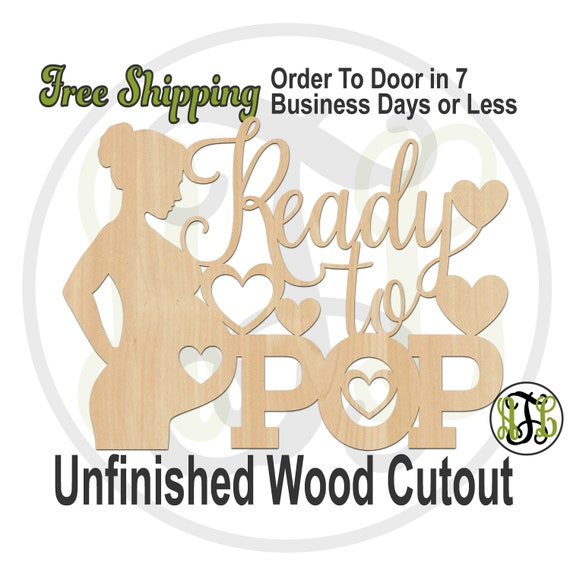Ready to POP - 321015- Shower Cutout, unfinished, wood cutout, wood craft, laser cut, wood cut out, Door Hanger, Baby, wall art